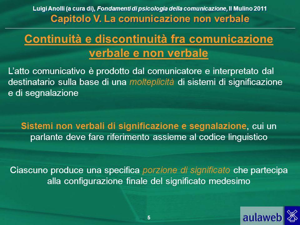 Continuità e discontinuità fra comunicazione verbale e non verbale