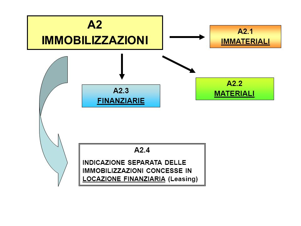 A2 IMMOBILIZZAZIONI A2.1 IMMATERIALI A2.2 MATERIALI A2.3 FINANZIARIE