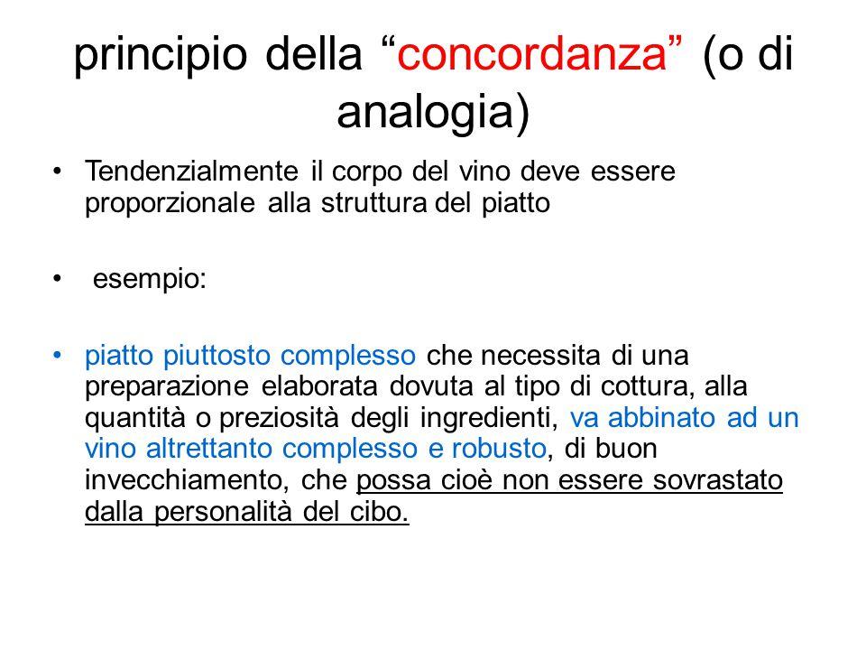 principio della concordanza (o di analogia)