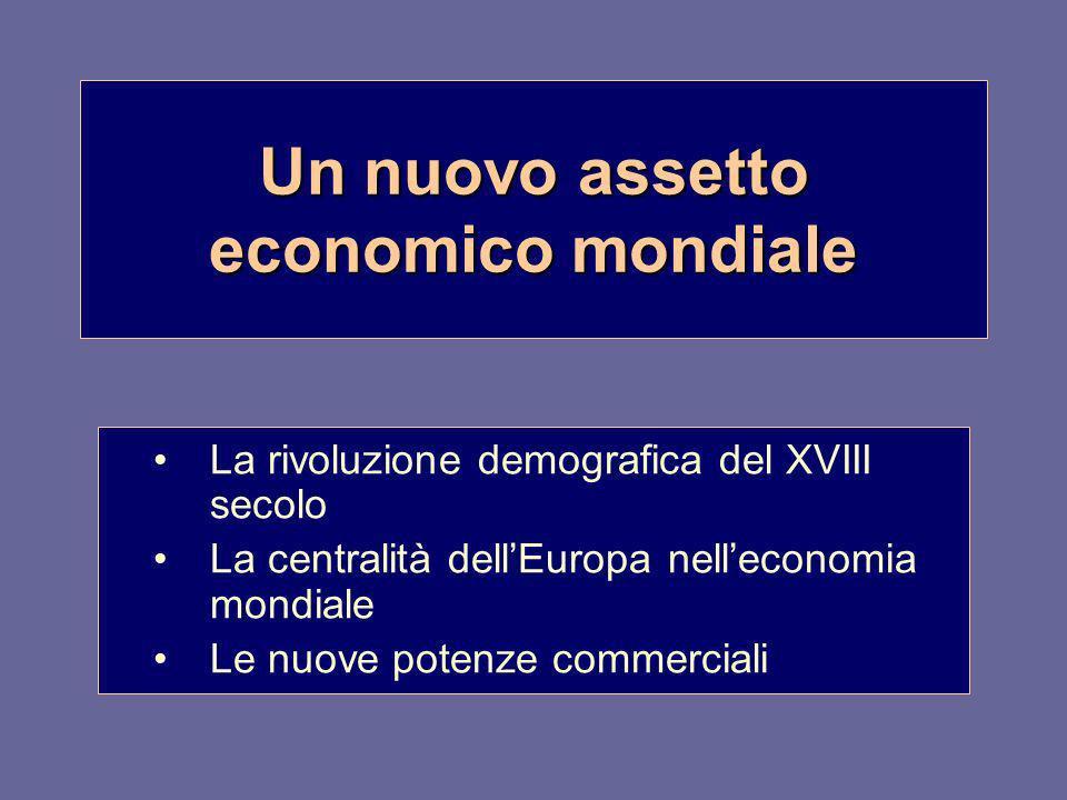 Un nuovo assetto economico mondiale