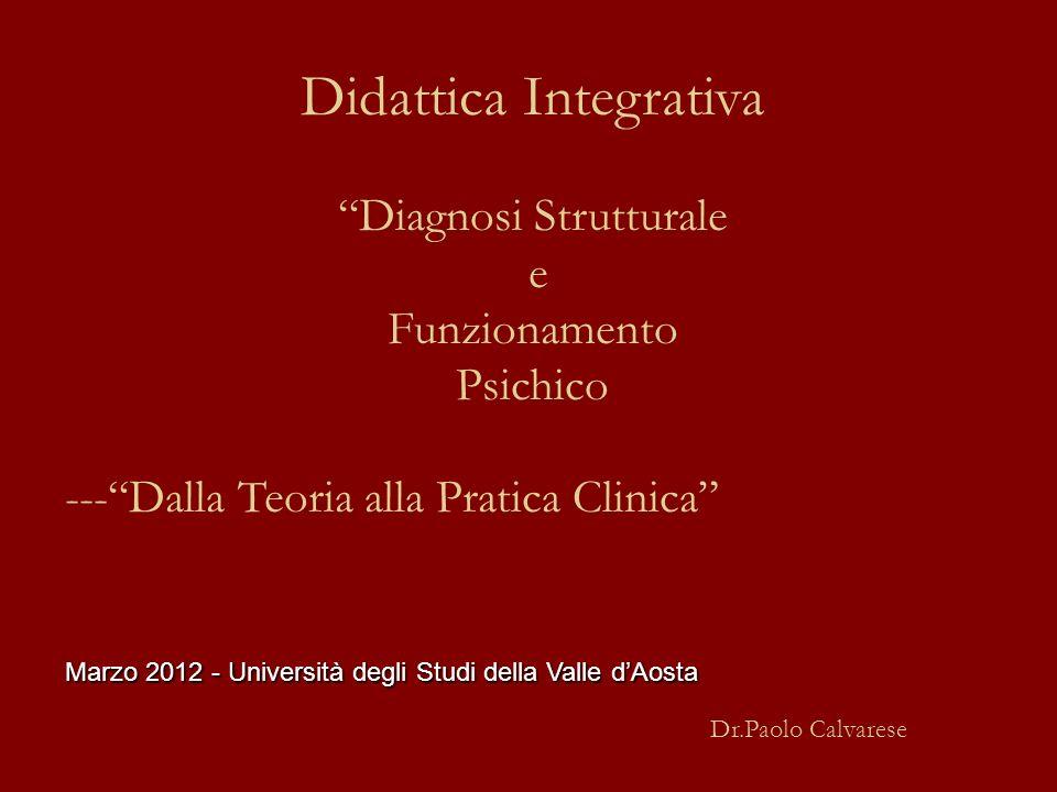 Didattica Integrativa Diagnosi Strutturale