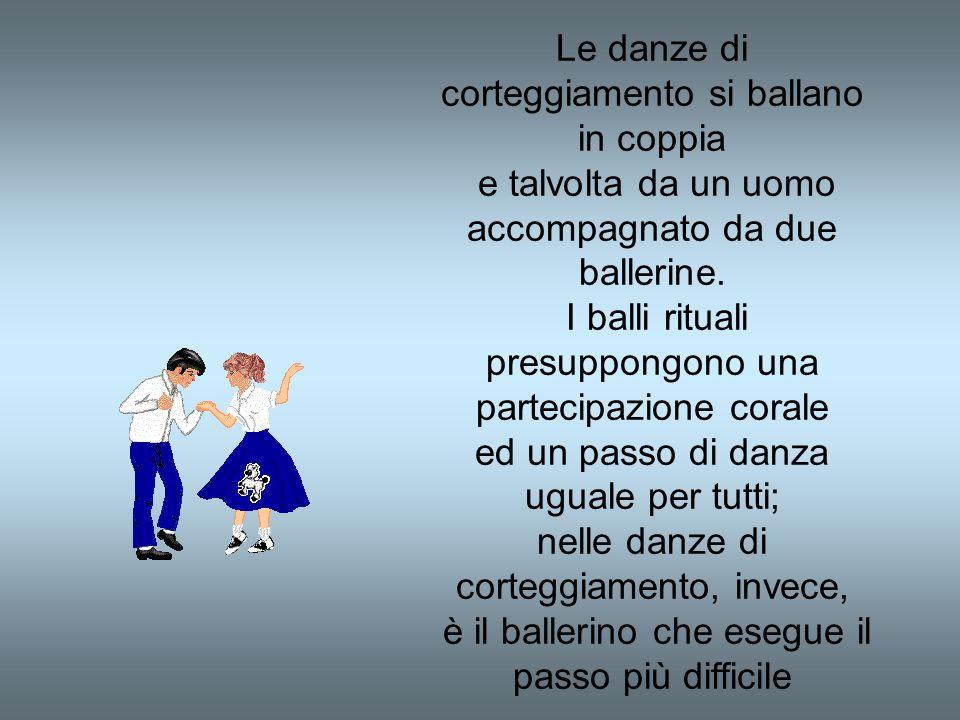 Le danze di corteggiamento si ballano in coppia