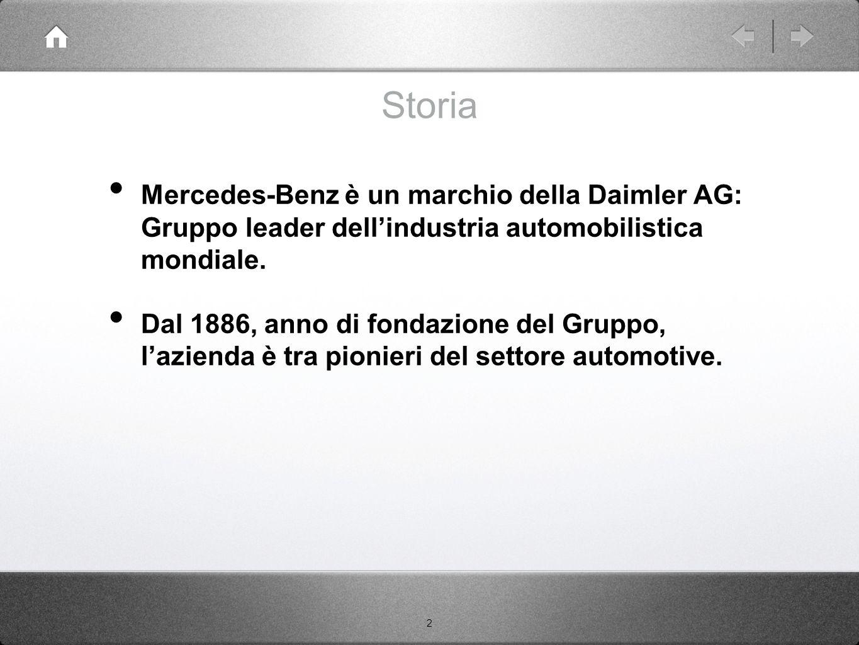 Storia Mercedes-Benz è un marchio della Daimler AG: Gruppo leader dell'industria automobilistica mondiale.