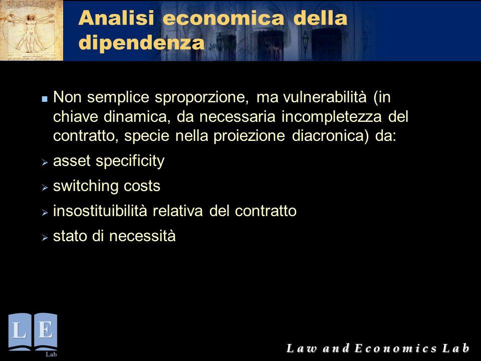 Analisi economica della dipendenza