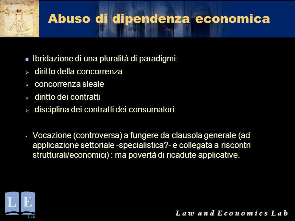 Abuso di dipendenza economica