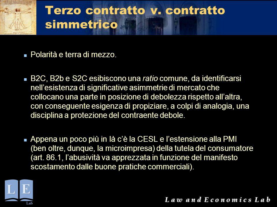 Terzo contratto v. contratto simmetrico