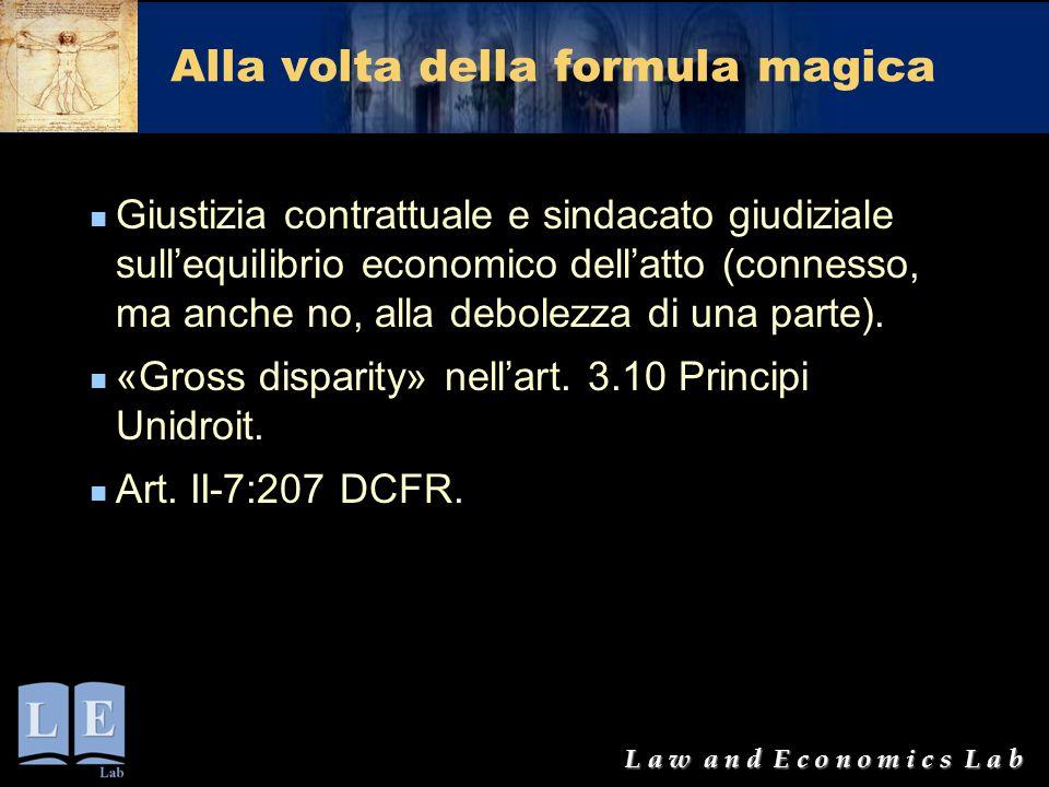 Alla volta della formula magica