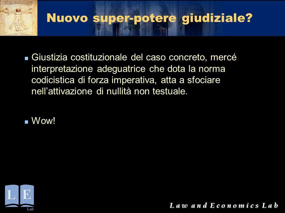 Nuovo super-potere giudiziale