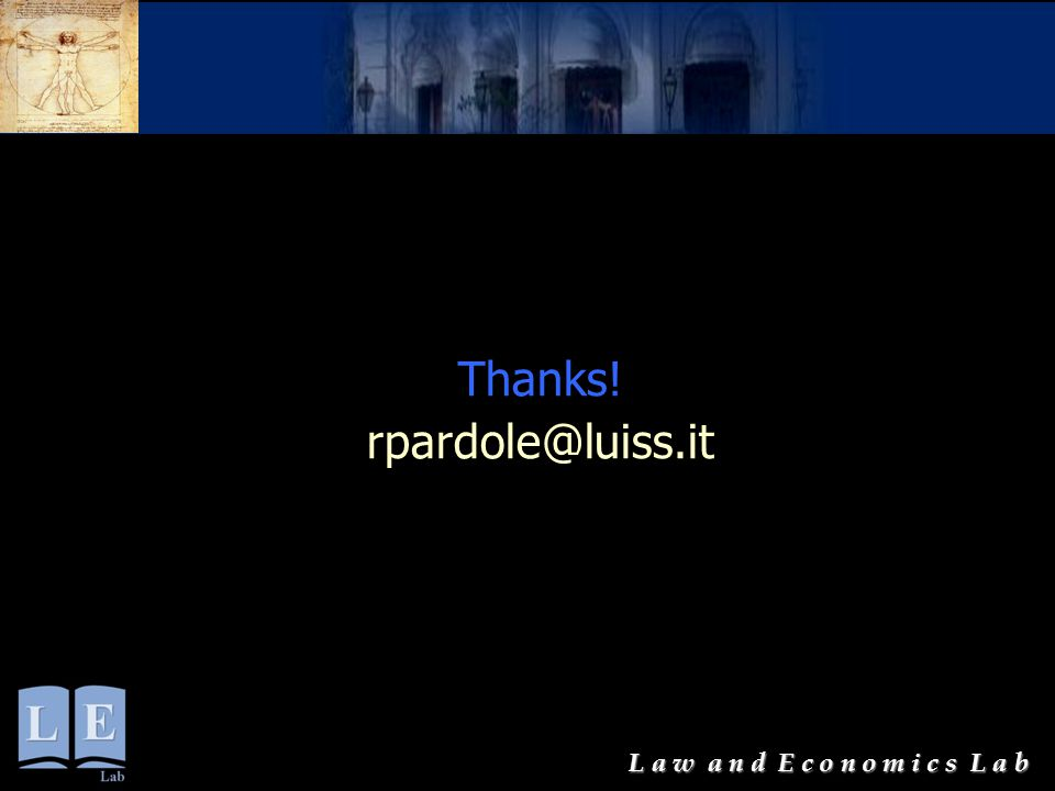 Thanks! rpardole@luiss.it