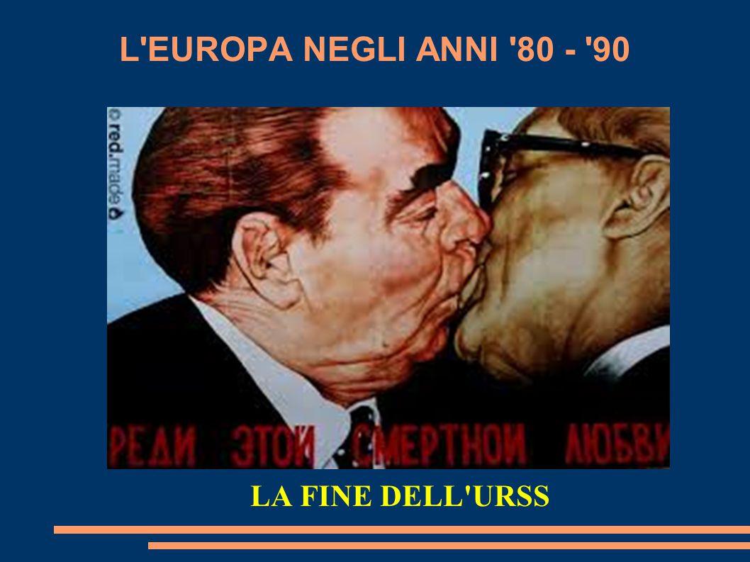 L EUROPA NEGLI ANNI 80 - 90 LA FINE DELL URSS