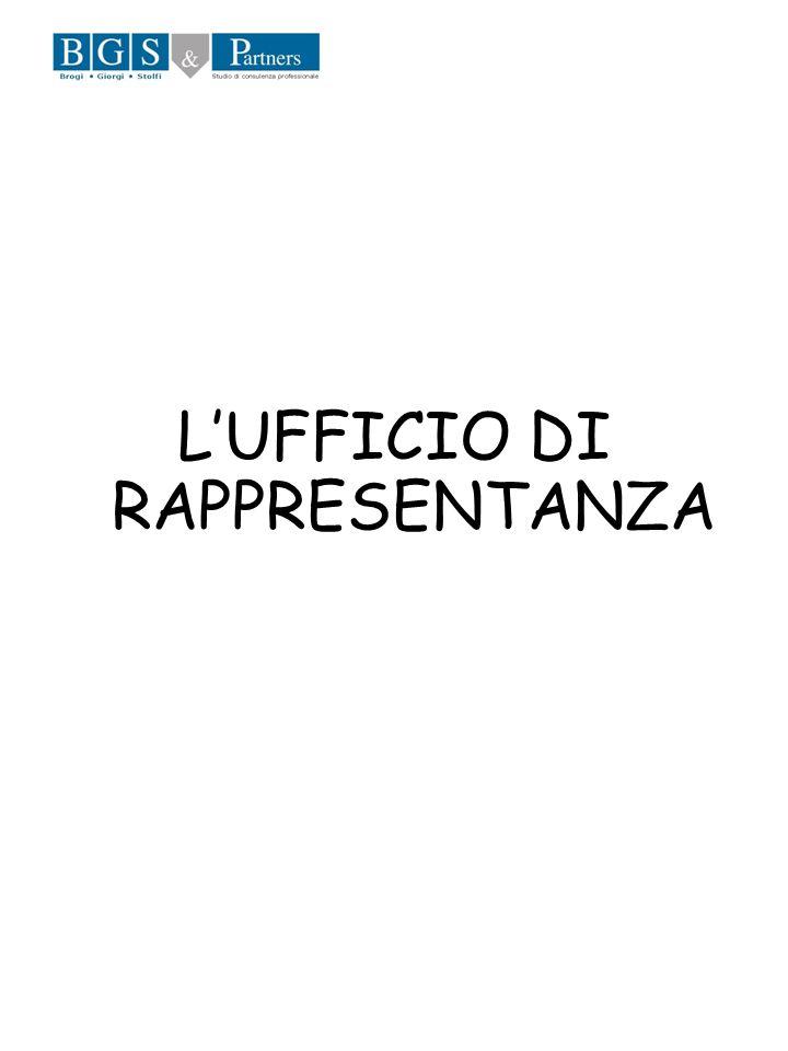 L'UFFICIO DI RAPPRESENTANZA