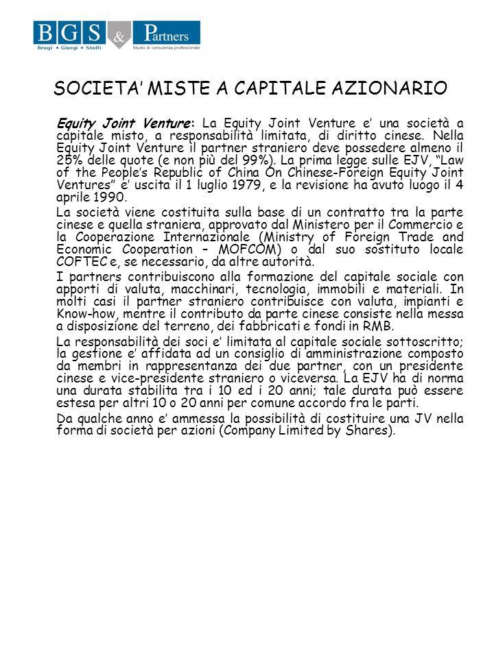 SOCIETA' MISTE A CAPITALE AZIONARIO