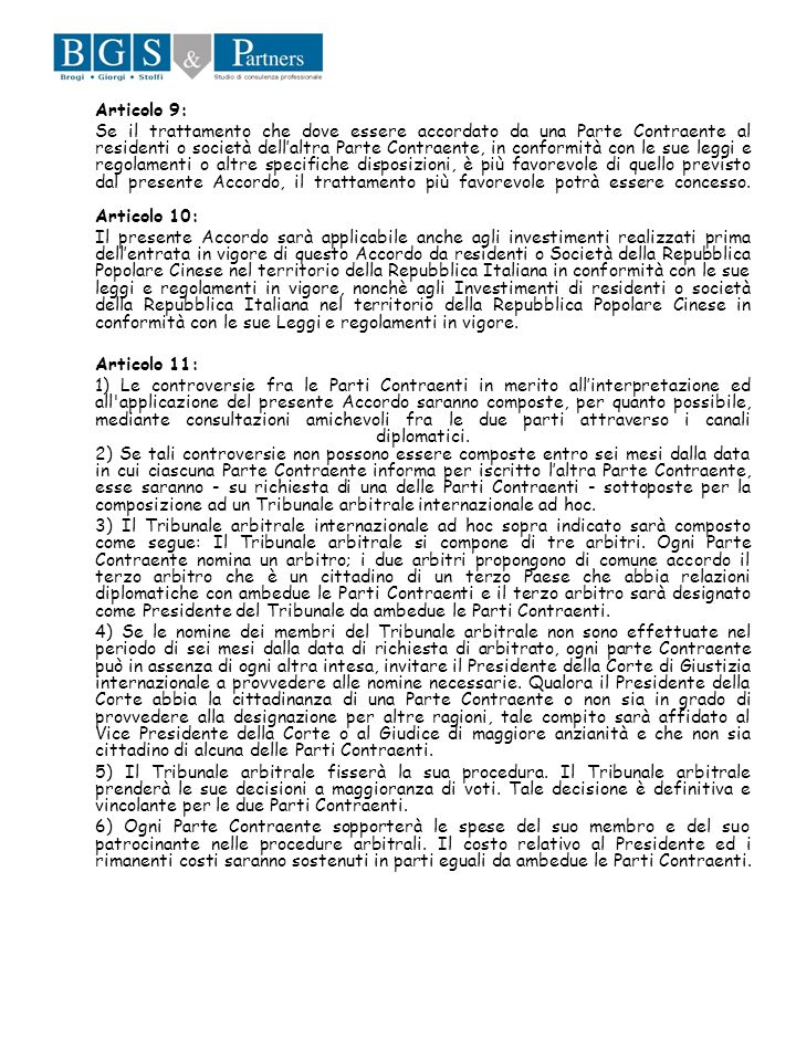 Articolo 9: