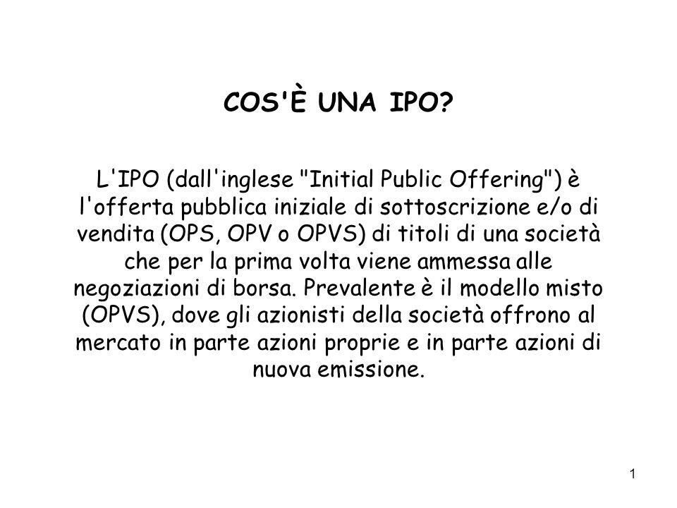 COS È UNA IPO.