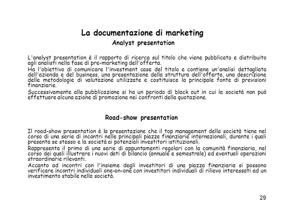 Analyst presentation Road-show presentation