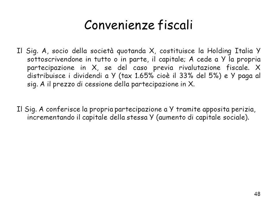 Convenienze fiscali
