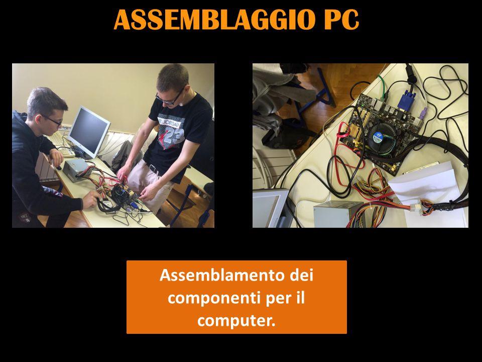 Assemblamento dei componenti per il computer.