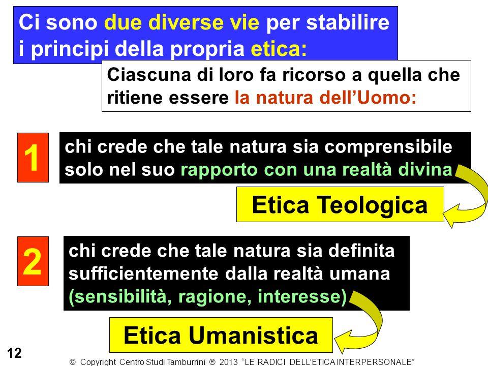 1 2 Etica Teologica Etica Umanistica