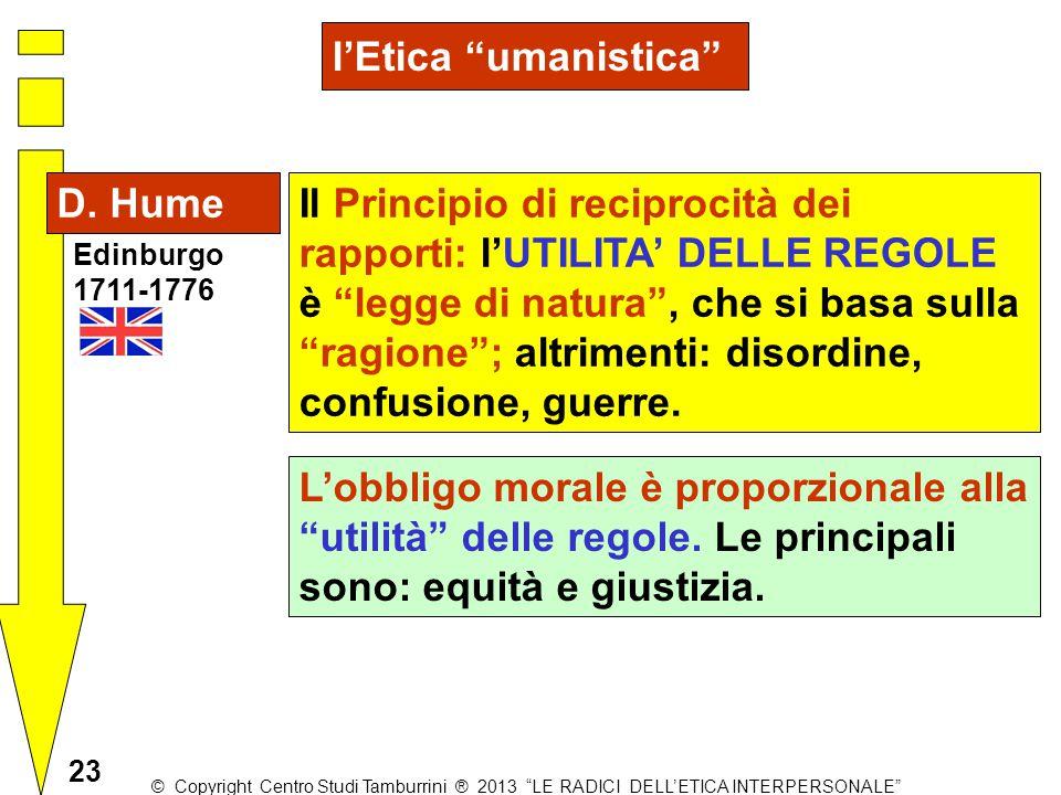l'Etica umanistica D. Hume