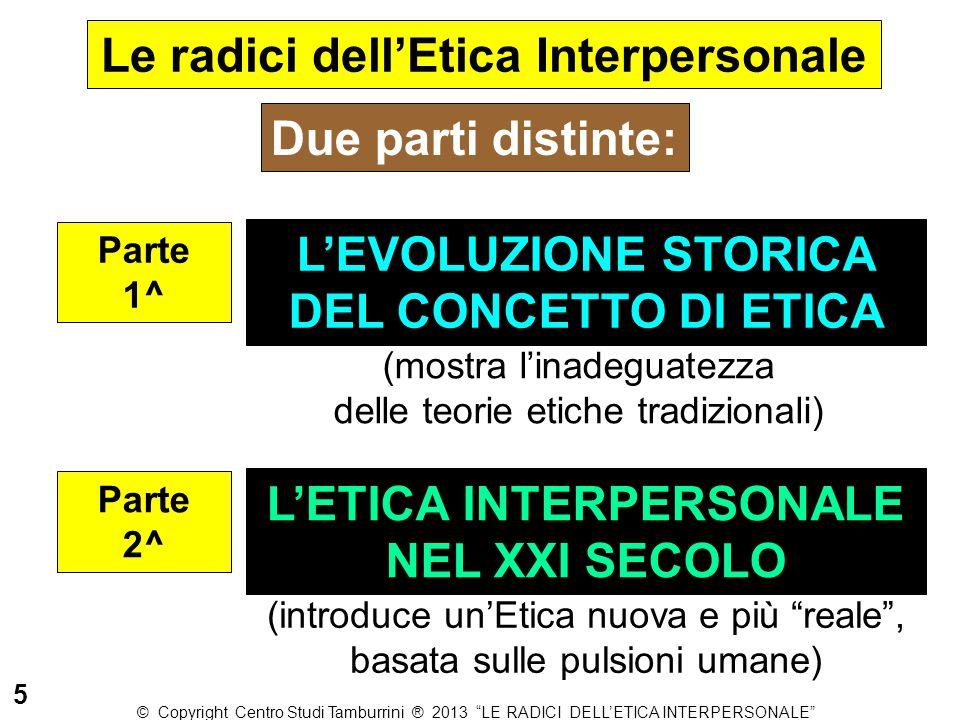 Le radici dell'Etica Interpersonale L'ETICA INTERPERSONALE