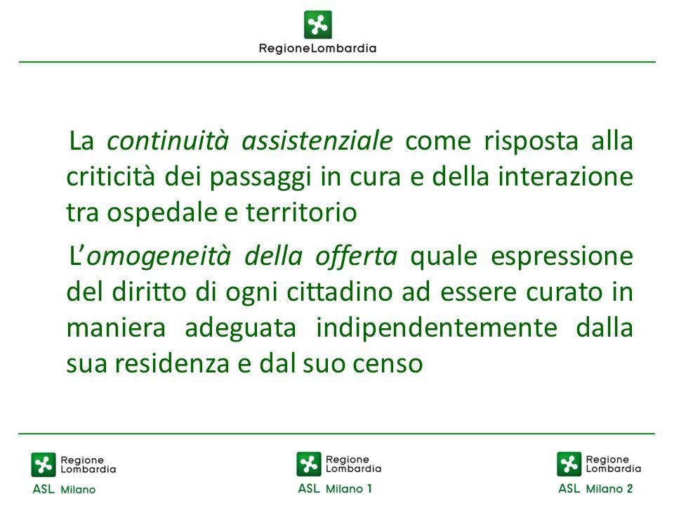 La continuità assistenziale come risposta alla criticità dei passaggi in cura e della interazione tra ospedale e territorio