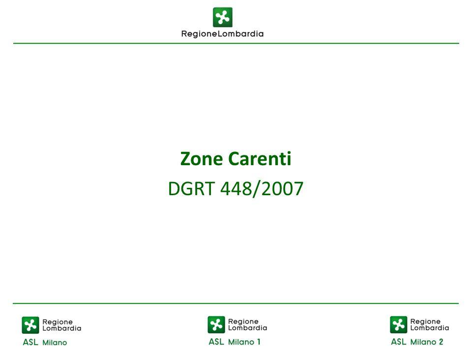 Zone Carenti DGRT 448/2007