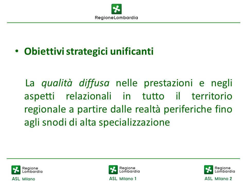 Obiettivi strategici unificanti