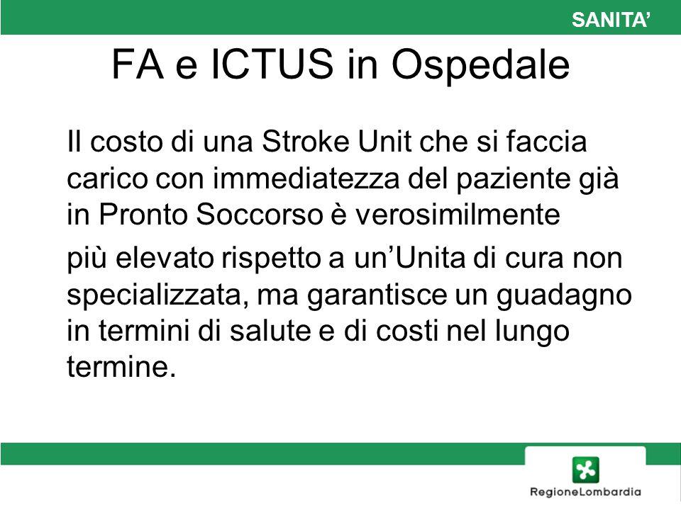 SANITA' FA e ICTUS in Ospedale.
