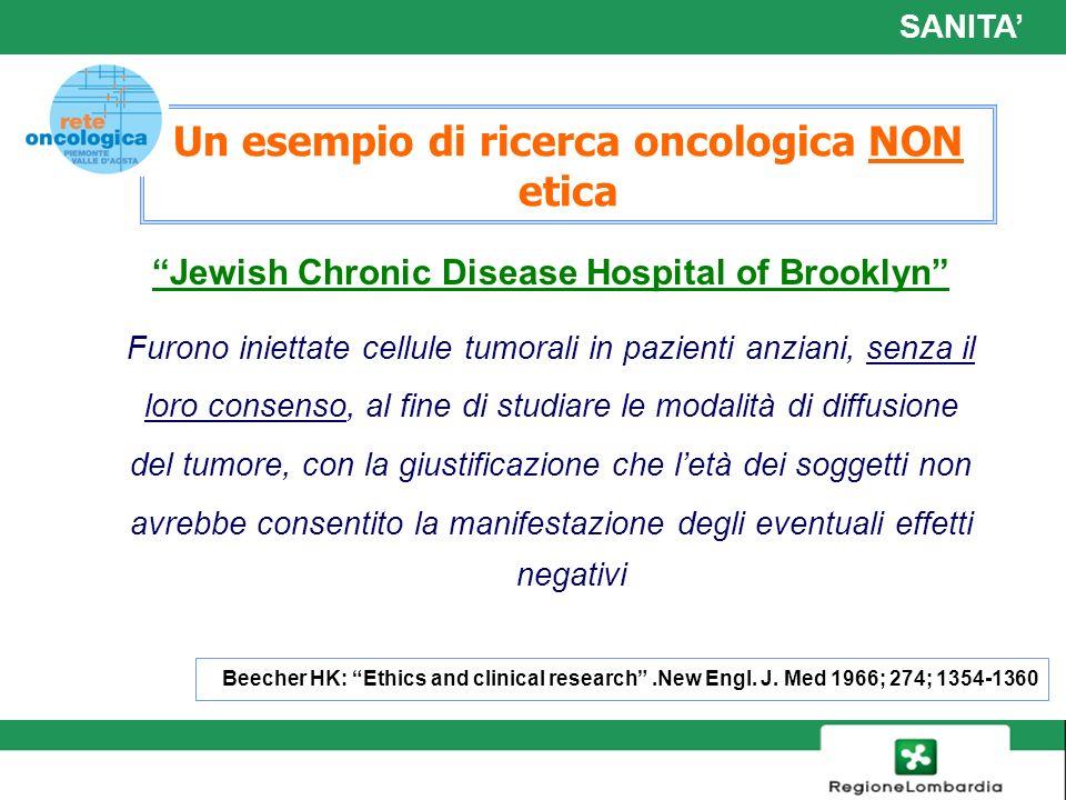 Un esempio di ricerca oncologica NON etica