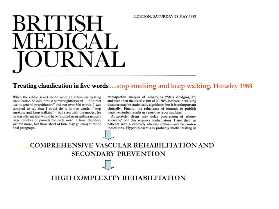 …stop smoking and keep walking. Housley 1988