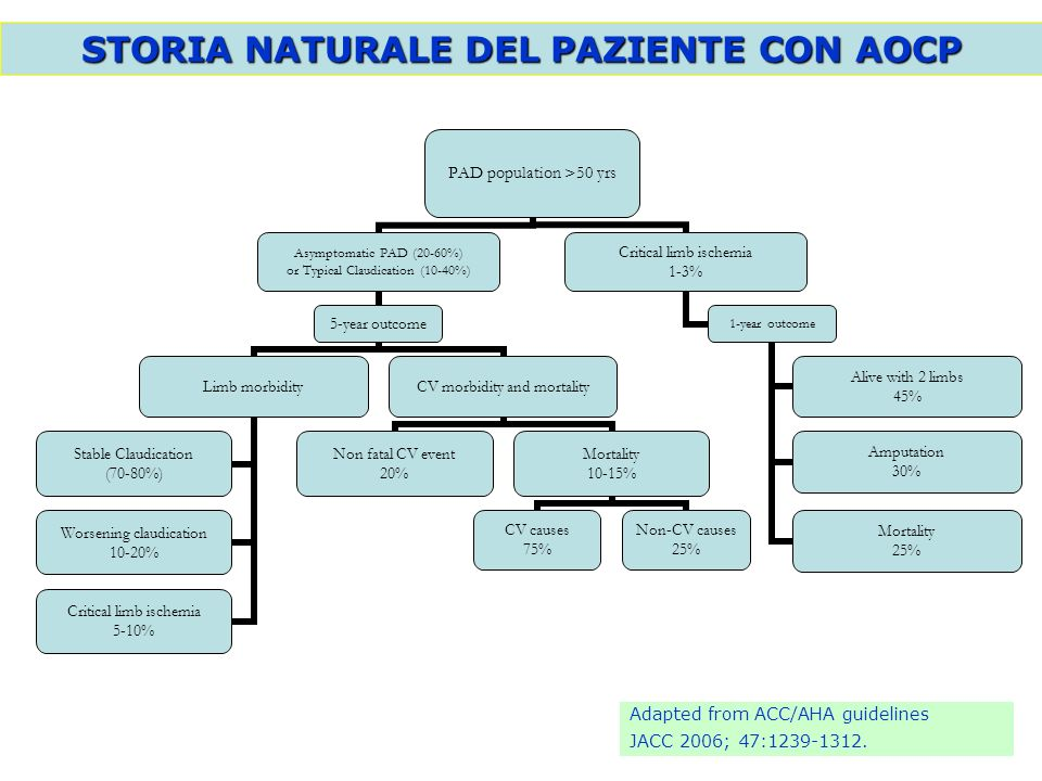 STORIA NATURALE DEL PAZIENTE CON AOCP