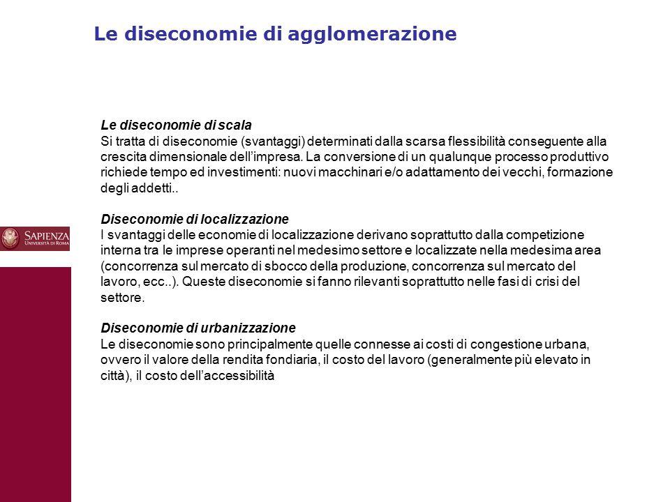Le diseconomie di agglomerazione