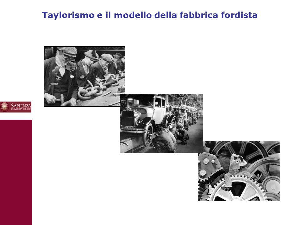 Taylorismo e il modello della fabbrica fordista