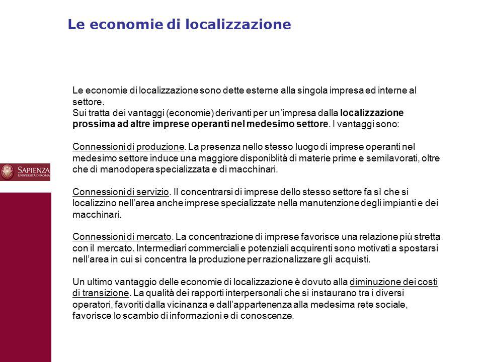 Le economie di localizzazione