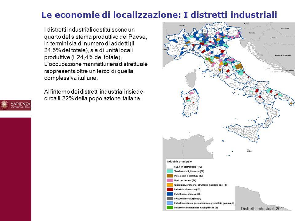 Le economie di localizzazione: I distretti industriali