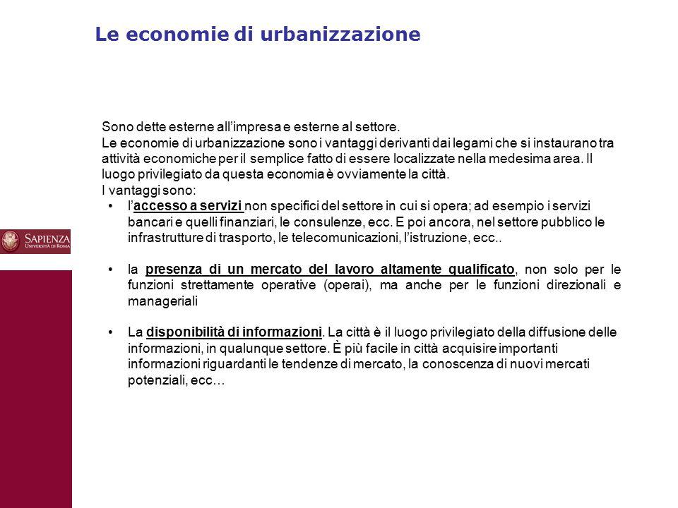 Le economie di urbanizzazione