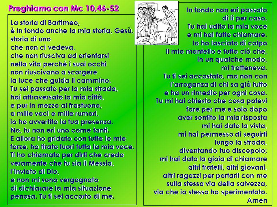 Preghiamo con Mc 10,46-52
