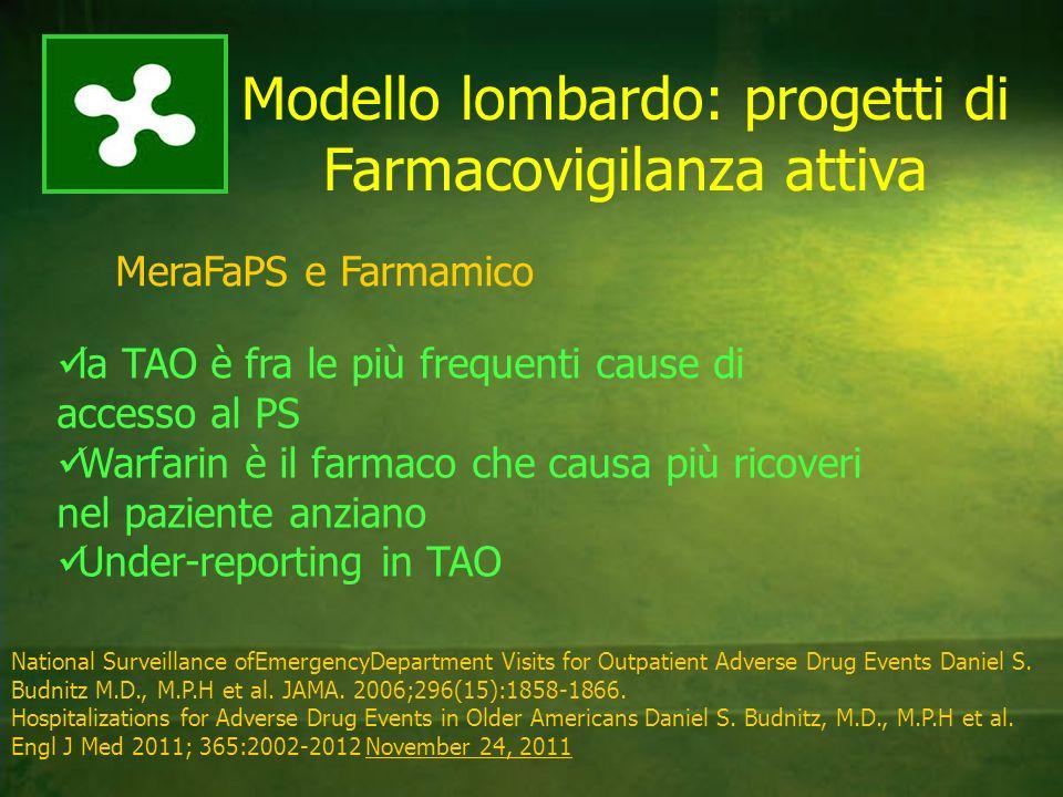 Modello lombardo: progetti di Farmacovigilanza attiva