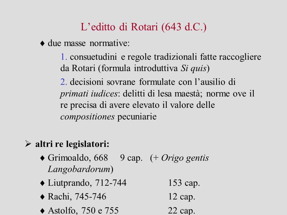 L'editto di Rotari (643 d.C.)