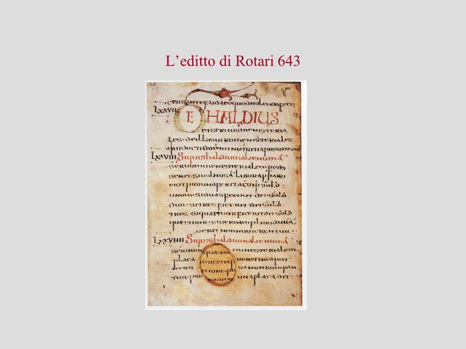 L'editto di Rotari 643