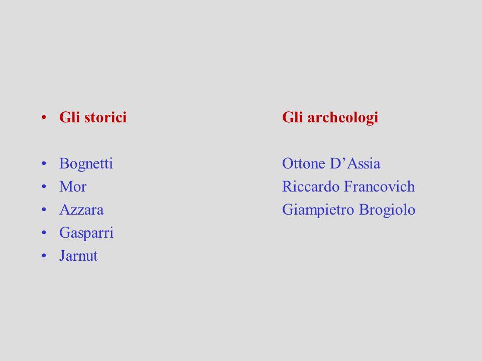 Gli storici Gli archeologi