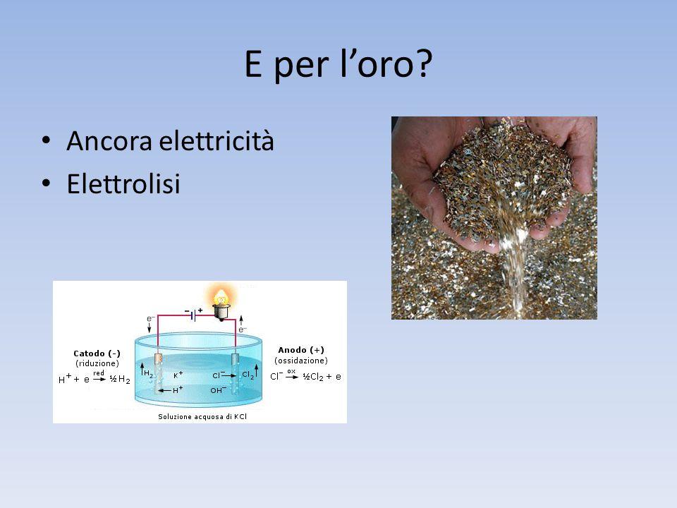 E per l'oro Ancora elettricità Elettrolisi