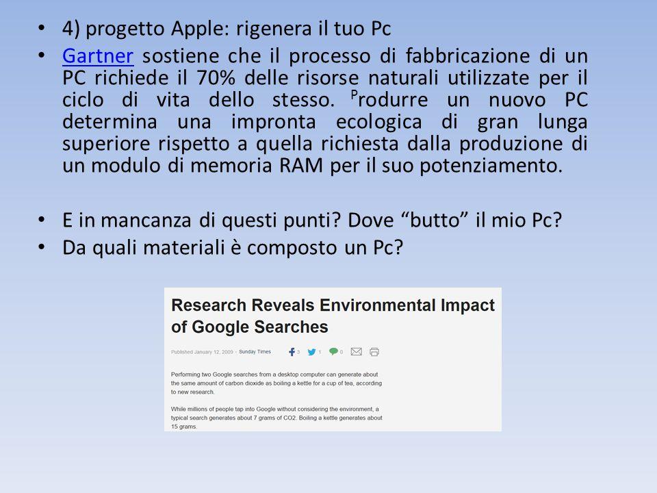 4) progetto Apple: rigenera il tuo Pc
