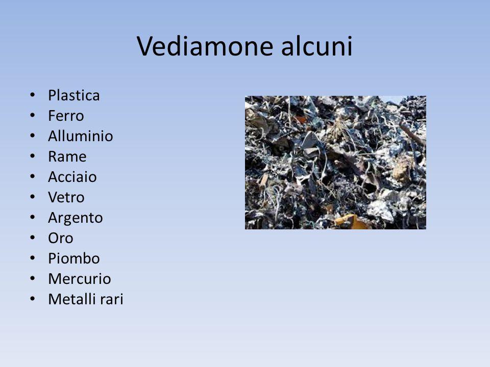 Vediamone alcuni Plastica Ferro Alluminio Rame Acciaio Vetro Argento