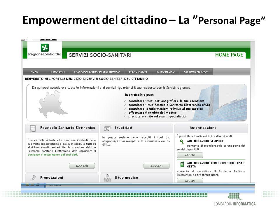 Empowerment del cittadino – La Personal Page