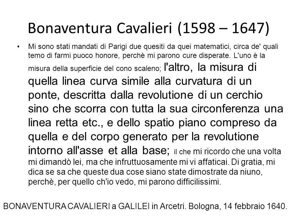 Bonaventura Cavalieri (1598 – 1647)