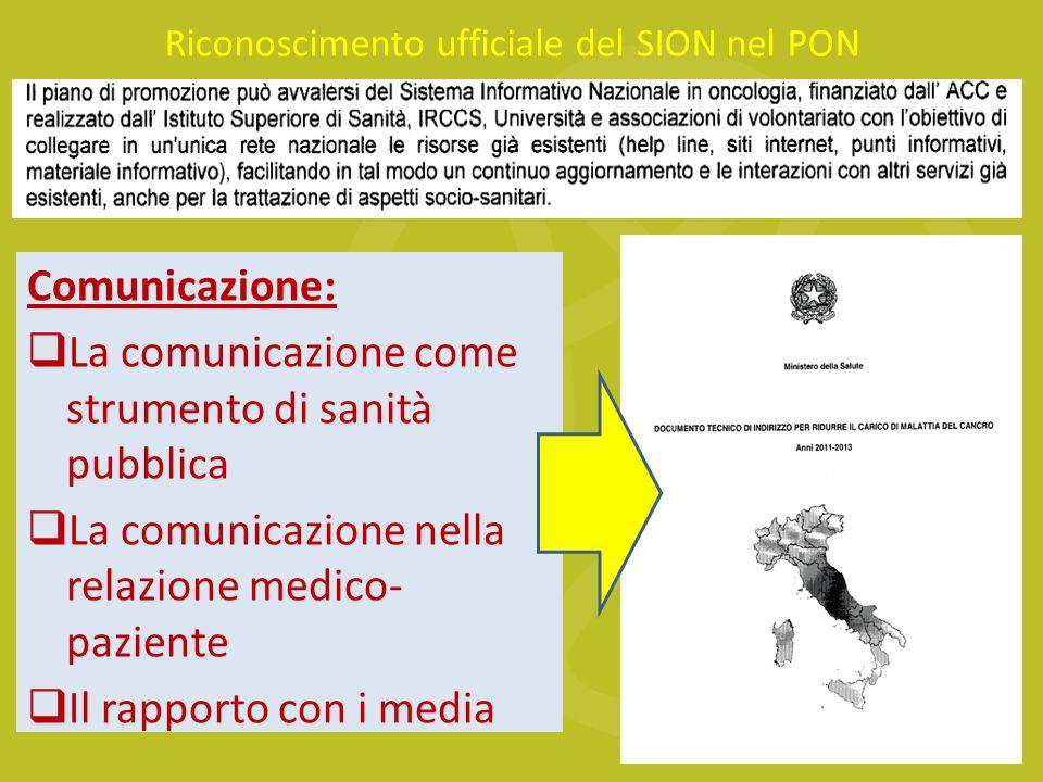 Riconoscimento ufficiale del SION nel PON