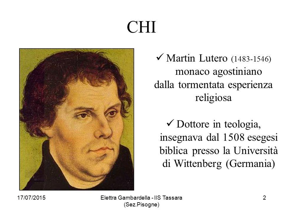 CHI Martin Lutero (1483-1546) monaco agostiniano