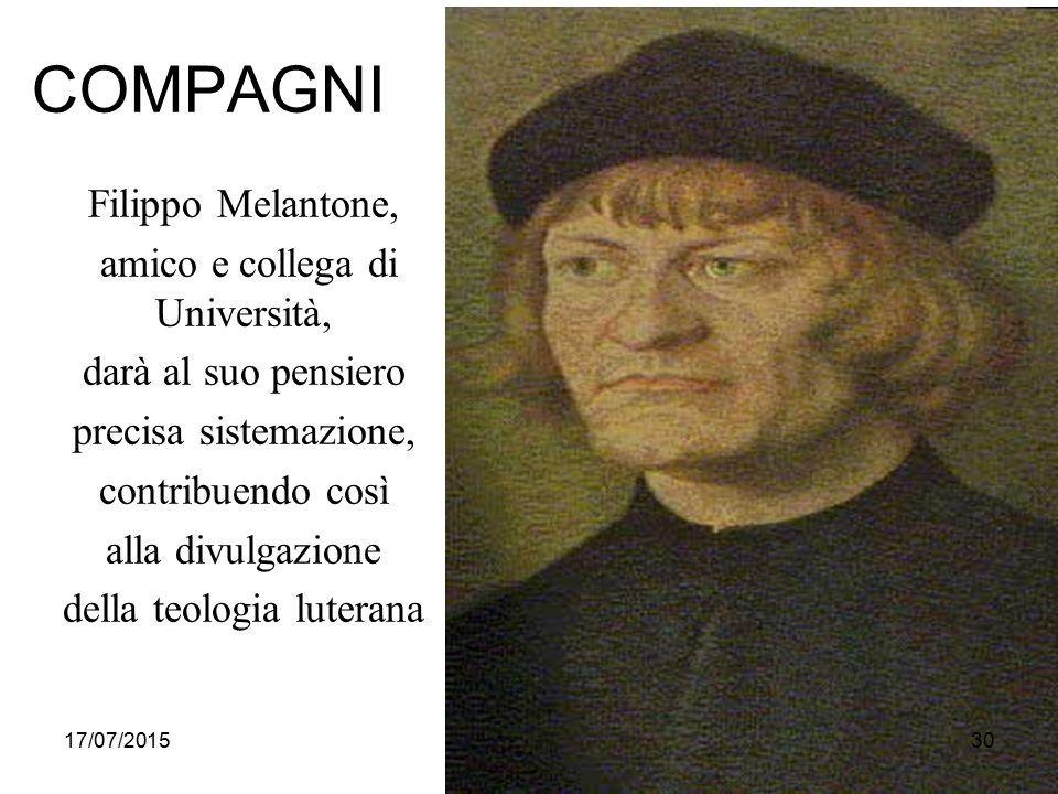 COMPAGNI Filippo Melantone, amico e collega di Università,