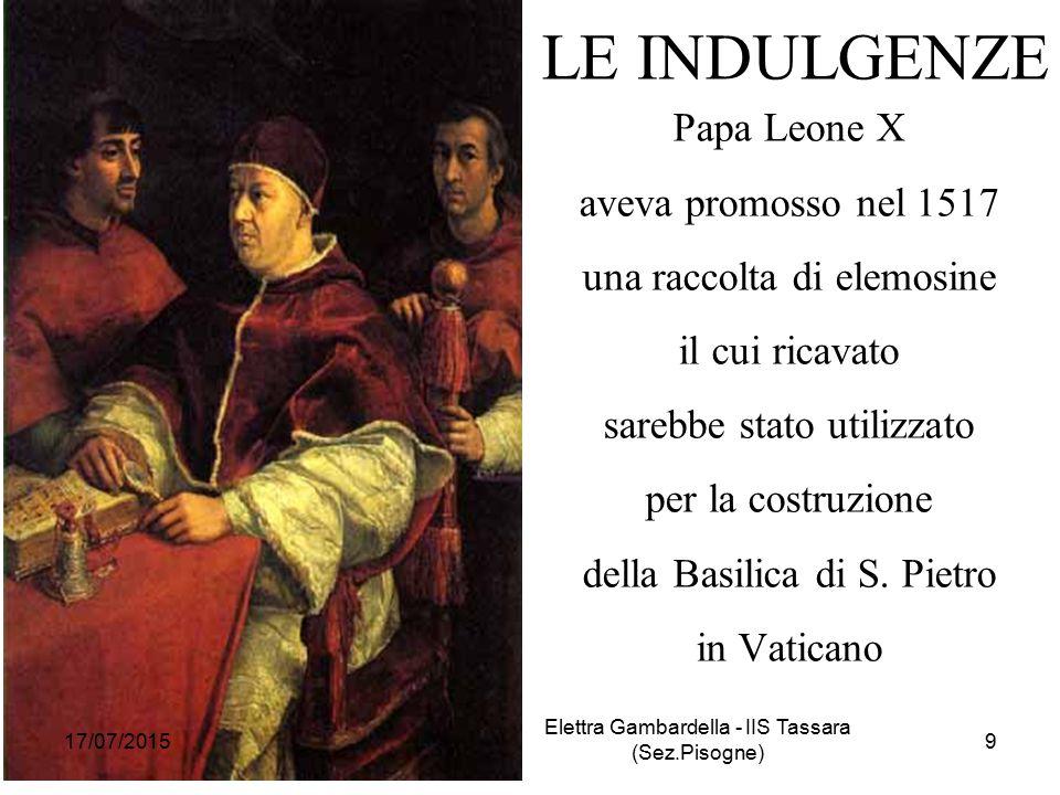 LE INDULGENZE Papa Leone X